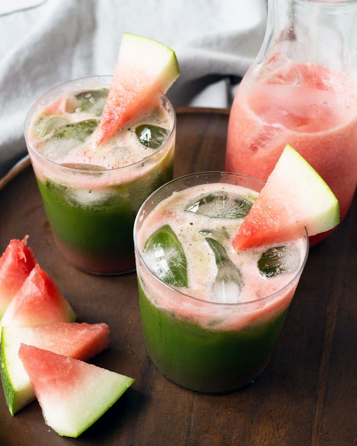 Iced Matcha (Green Tea) Watermelon — Oh, How Civilized