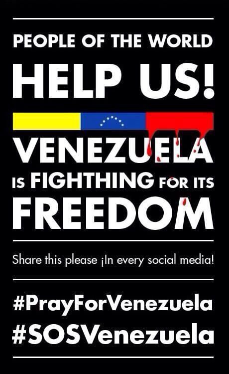 My Venezuelan friends are reporting the following: Students are being killed Yes you read it right, students like yourself are being killed in Venezuela, a country in south America.  This is no fiction, it is not part of a dystopian YA novel, is real life. They are being killed by their own government, they live in a DICTATORSHIP.  You read The Hunger Games? You read novels about repressive regimes, imagine to live that for real. That is what Venezuelan students and population is living…