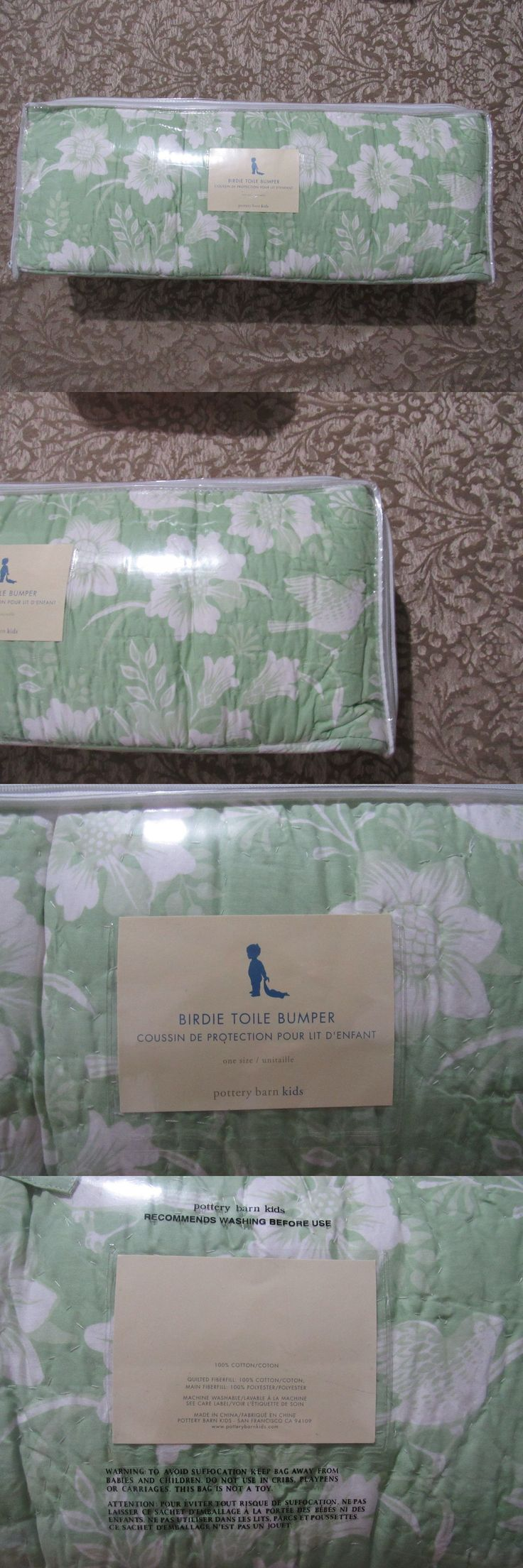 Bumpers 20417: Pottery Barn Kids Birdie Toile Green White Crib Bumper -> BUY IT NOW ONLY: $35.95 on eBay!