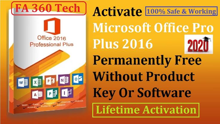 Activate Microsoft Office 2016 Permanently Without Product