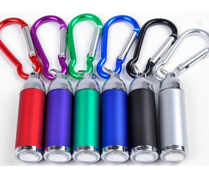 HOT Mini Keychain flashlight telescopic small flashlight gift led flashlight, mountaineering buckle led lumen torch