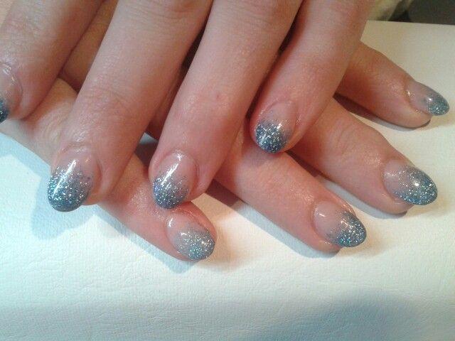Faiding blauwe glitter (acryl)