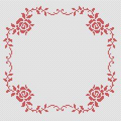 Roses Border counted cross stitch pattern, free from Alita Design