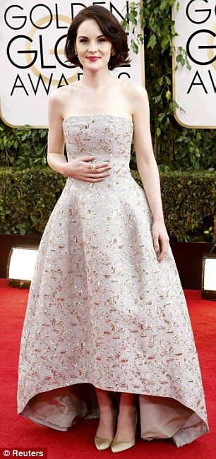 Michelle Dockery at the 2014 Golden Globes