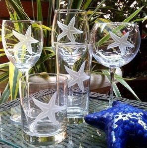 Cute starfish glasses for the beach house