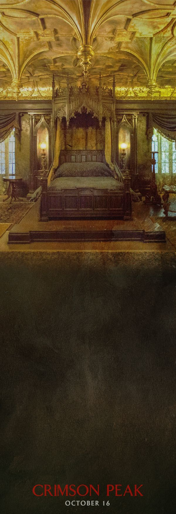 the master bedroom of her new home | Crimson Peak in theaters 10.15.16