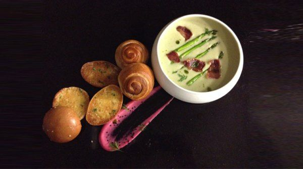 Potato and Asparagus Soup with Bacon Rashers recipe by Chef Anirban Sinha. READ: http://indianexpress.com/article/lifestyle/food-wine/chefs-corner-how-to-make-potato-and-asparagus-soup-with-bacon-rashers/