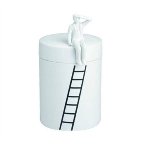 Ceramic jar - man with ladder – Design Quarter