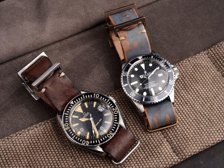 Omega Seamaster 300 & Rolex Submariner / leather nato strap