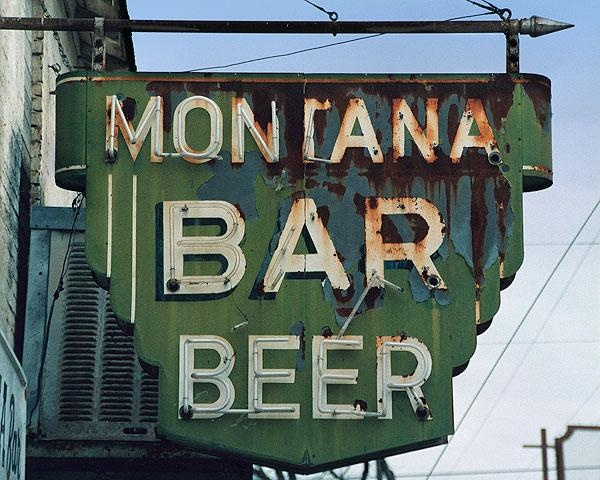 Fine art photo of the vintage Montana Bar sign in Miles City, MT: Vintage Signage, Montana Beer, Neon Signs, Vintage Signs, Bar Signage, Beer Bar, Montana Bar, Bar Beer, Bar Signs
