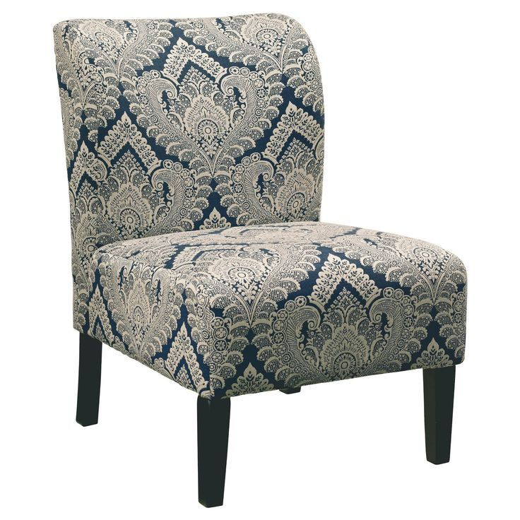 With its sense of softness and subtlety, the Honnally slipper chair can slip right into just about any scene. Billowy and beautiful, the multi-tonal upholstery pattern is wonderfully easy on the eyes.  Signature Design by Ashley is a registered trademark of Ashley Furniture Industries, Inc.