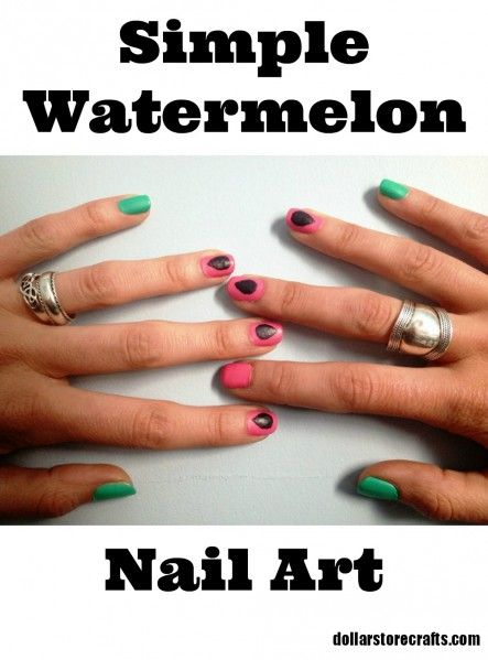 Summer Nail Art: Watermelon Manicure