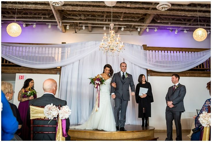 Intimate wedding ceremony inside The Cocoa Room