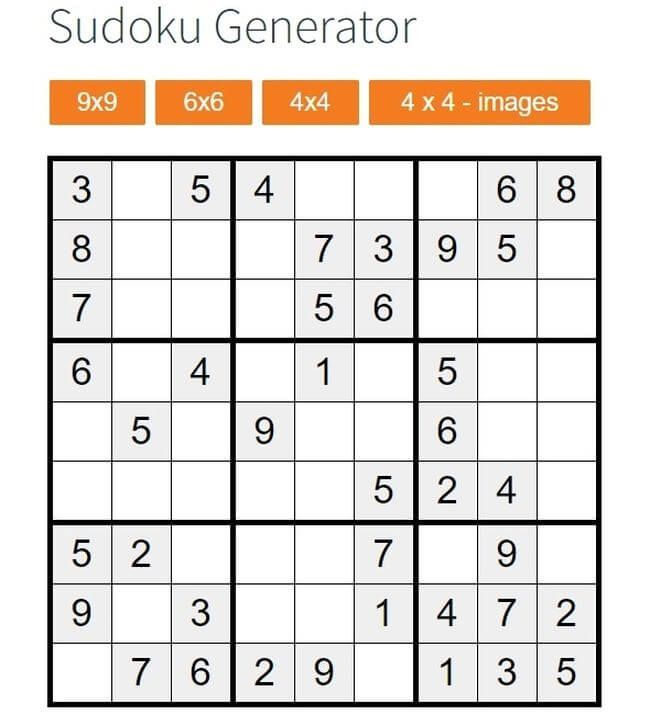 Sudoku Generator Es Una Aplicación Web Gratuita Para Crear Sudokus Para Imprimir De Forma Rápida También Podemos Jugar Estos Sudokus Onli Sudoku Periodic Table