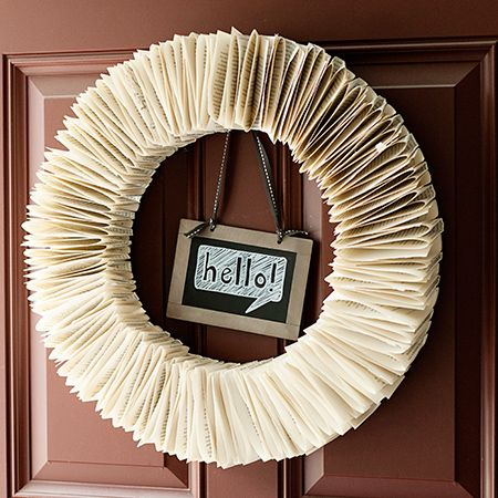 Using an old book or one from the dollar store, you can whip up this back-to-school book page wreath to spruce up your décor for the new school year.
