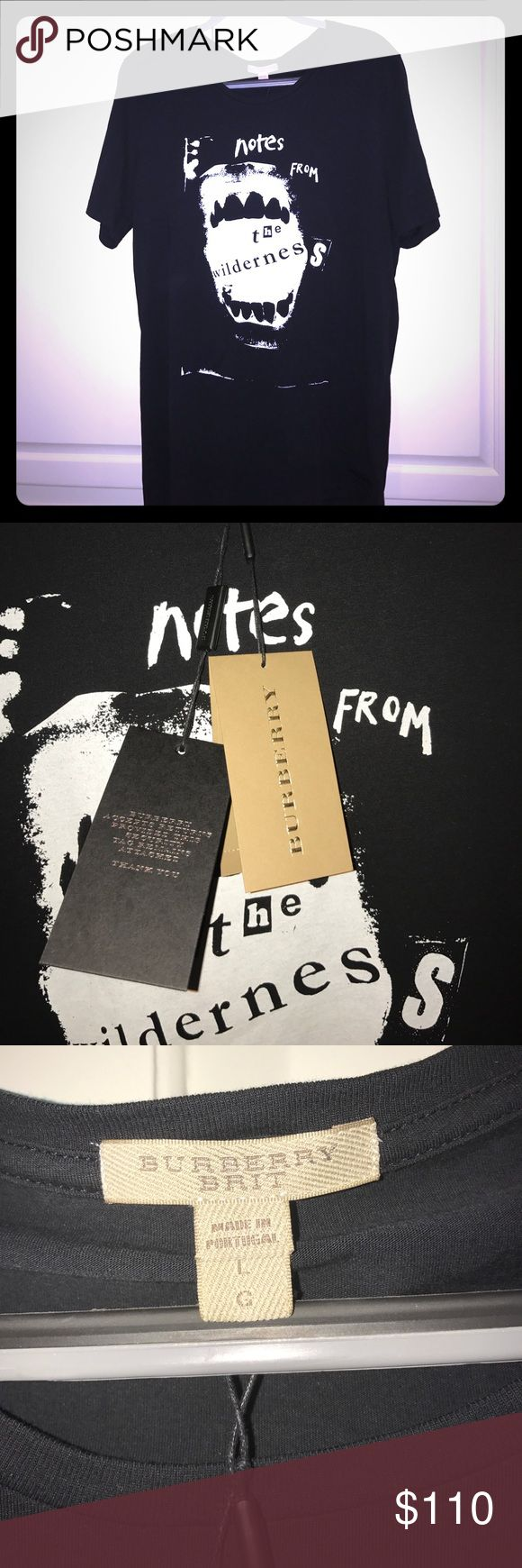 NWT Burberry Brit Men's shirt Never been worn, still has the tags attached! This is a super cool Burberry t-shirt! Burberry Shirts Tees - Short Sleeve