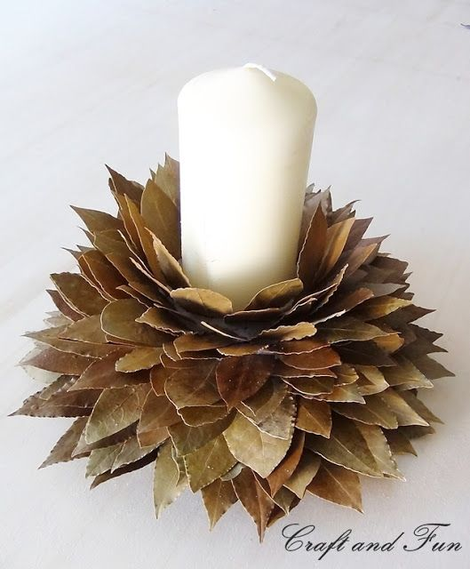 DIY Christmas Decorations with leaves