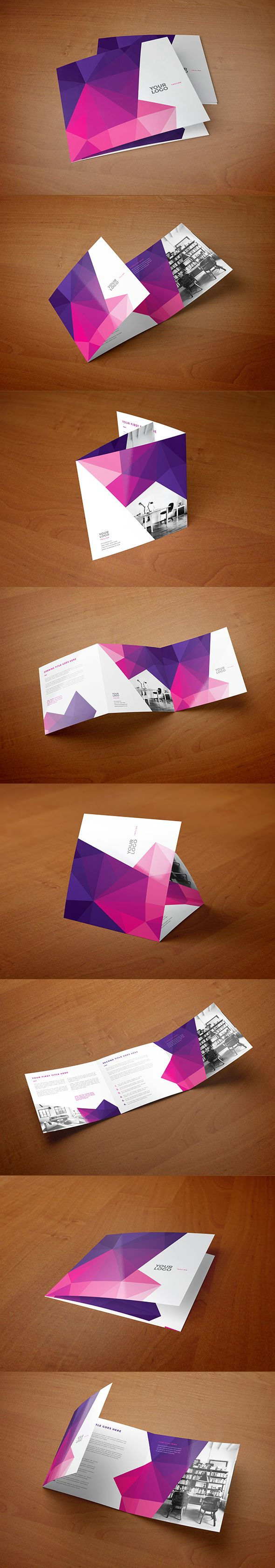 Square Clean Pink Pattern Trifold. Download here: http://graphicriver.net/item/square-clean-pink-pattern-trifold/12471343?ref=abradesign