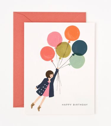 Clementine — Printed Card ~ Balloon Birthday