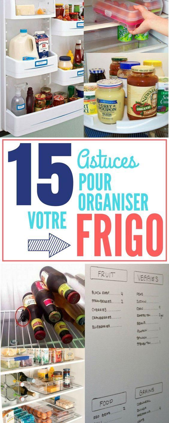 Découvrez toutes les meilleures astuces pour organiser au mieux votre frigo / réfrigérateur.