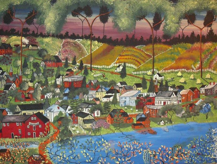 Landscape Painting - Westport Morning In 1921 by Christine Janeway