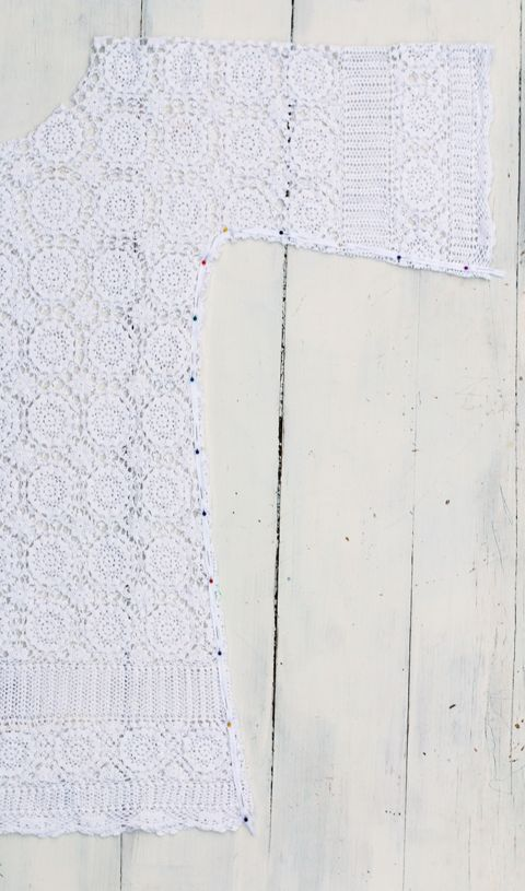 free crochet lace dress pattern tutorial instructions tablecloth upcycled recycled sustainable