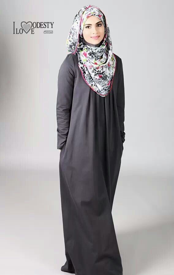 perfect grey # abaya