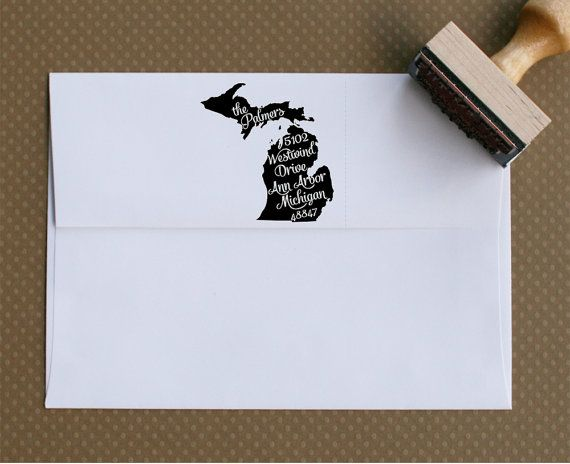 Personalized Return Address Stamp  Wood or by swankypress on Etsy, $27.00