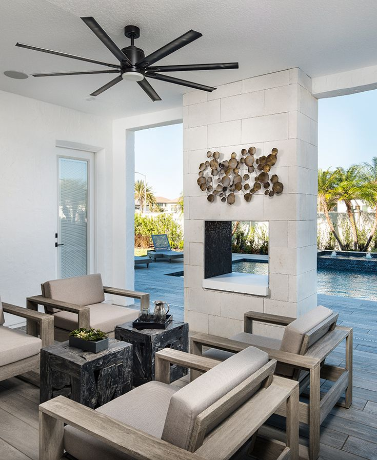 Big And Beautiful Fans Explore Our Expanded Line Of Large Ceiling Fans Large Ceiling Fans Outdoor Patio Design