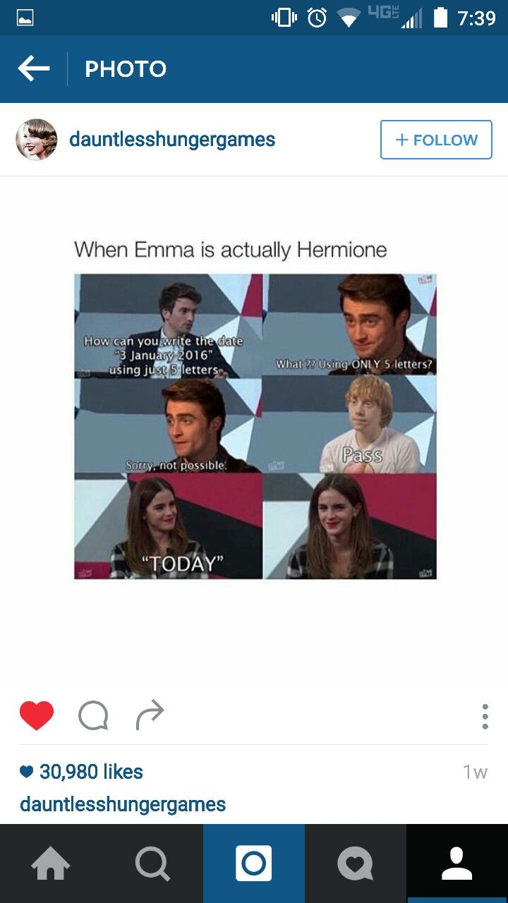 Of course Emma gets it and Dan and Rupert don't