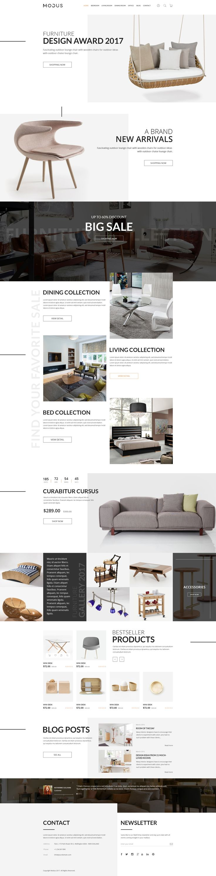 Modus   ECommerce PSD Template