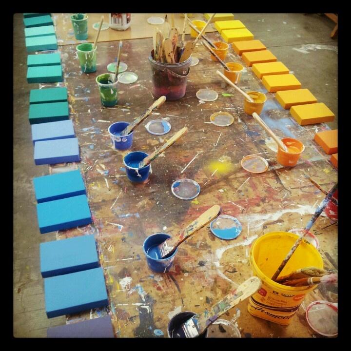Painting blocks