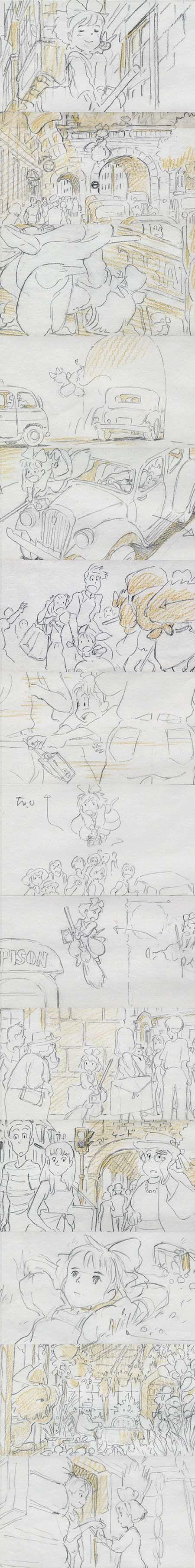 Kiki's Delivery Service storyboard!                                                                                                                                                                                 More