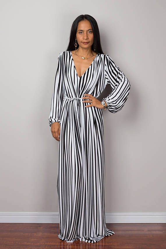Long Sleeve Black and white jumpsuit by Nuichan
