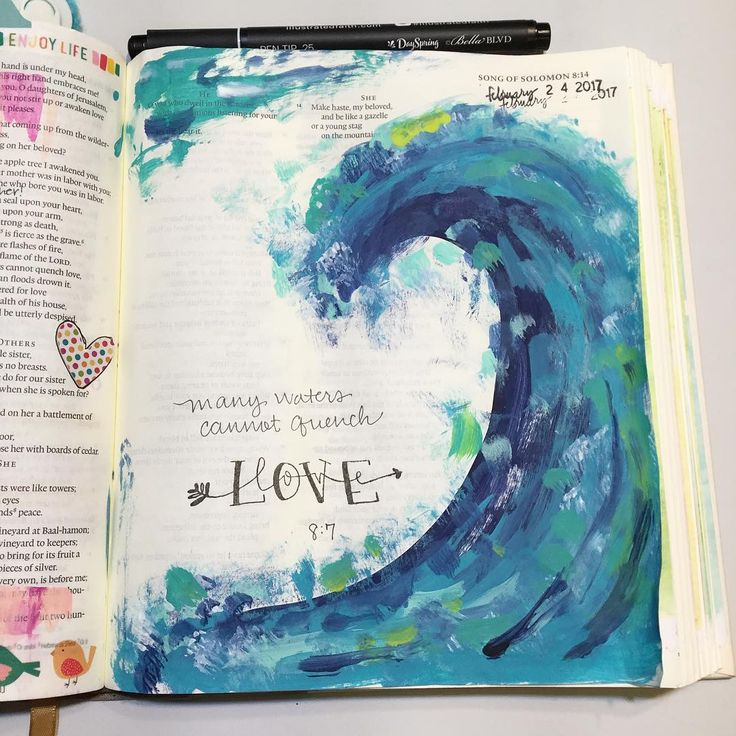 Bible Journaling by @luckowfam