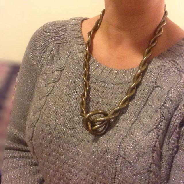 The Pretzel from @kimbalikes -  http://kimbalikes.com/knotlace-jewellery/  #style #jewellery #accessory