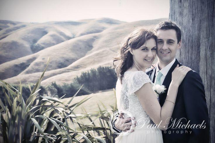 Wedding couple at Ohariu farm venue. New Zealand #wedding #photography. PaulMichaels of Wellington http://www.paulmichaels.co.nz/