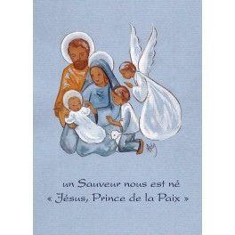 """Carte de Noël """"Jésus prince de la paix"""""""