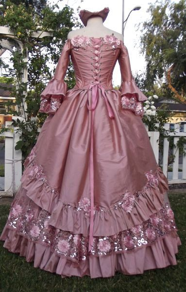 Dusty Rose Floral Sparkle Fantasy Marie by RomanticThreads on Etsy
