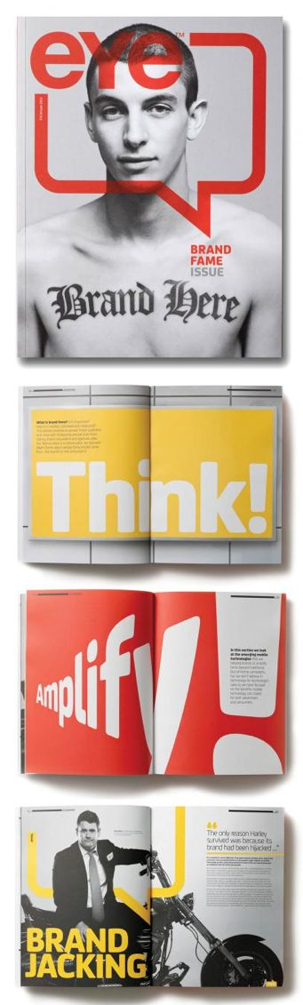 """I love these """"Eye"""" magazine designs and also the website: http://www.eyeoutofhome.com/"""