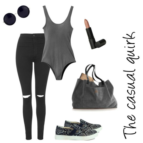 The casual quirk by billiexshoes on Polyvore featuring Topshop, RVCA, The Row and Youngblood