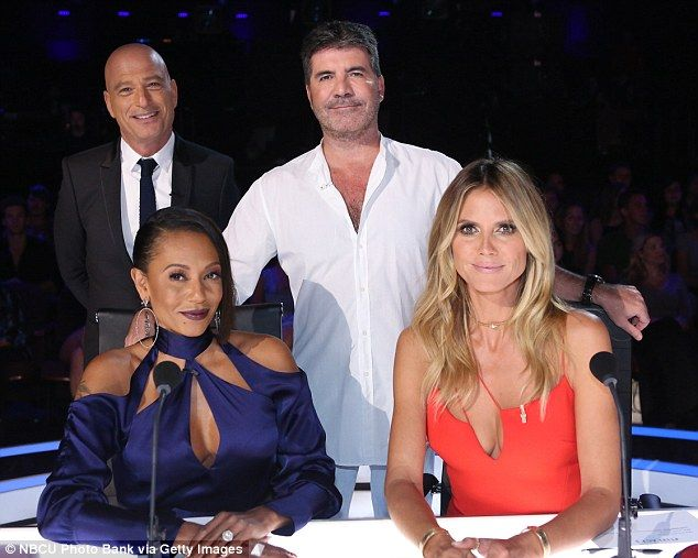 The judges: Mel B, Howie Mandel, Simon Cowell and Heidi were at the judges'…
