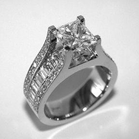 Princess Cut Diamond Ring by Oliver Smith Jeweler.