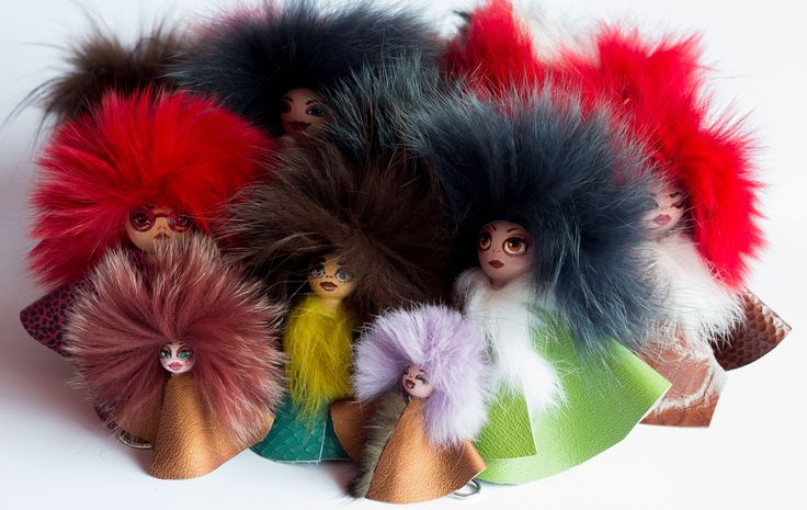 group dolls charms #bagcharms #furbagcharms #pompom #dolls #everbrildolls #handmade #unique