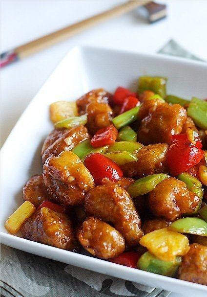 Sweet & Sour pork recipe. A classic chinese dish