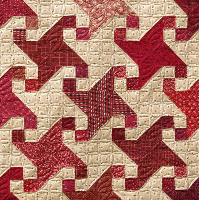 Snail Trail Quilt - nice color way!