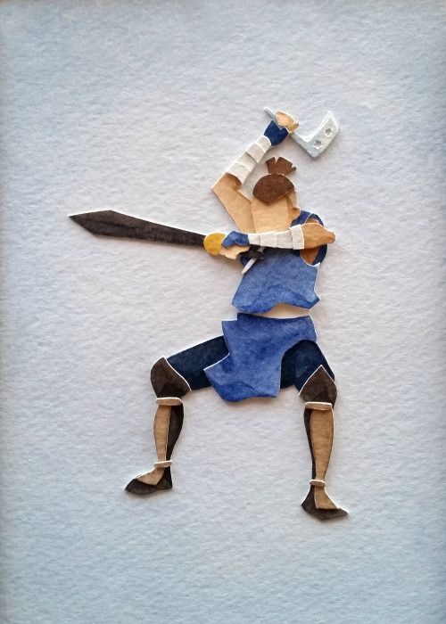 A felt sokka. Very well made!