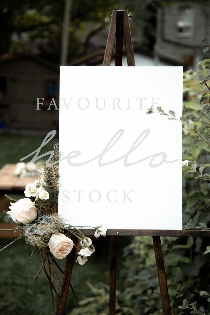 14+ White easel for wedding sign ideas