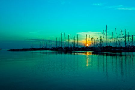 Sunset Over Turquoise water | Turquoise Photography