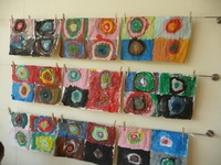 lesidee bij kern 10 Schilderen a la Kandinsky